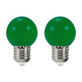 LED-lamp Polux, E27, 0,5 W, 50 lm, 3000 K, roheline, 2tk