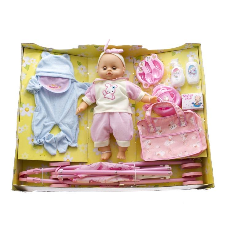 Lėlė Lovley Toys Baby Carriage Set Assort
