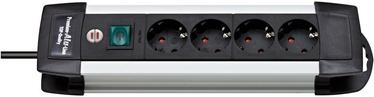 Brennenstuhl Premium-Alu-Line Extension Socket 4-way Silver/Black 1.8m