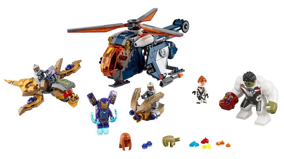 Конструктор Lego Marvel Avengers Hulk Helicopter Rescue 76144 ...