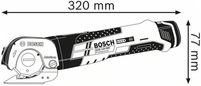 Bosch GUS 12V-300 Cordless Shears + L-Boxx 102 without Battery