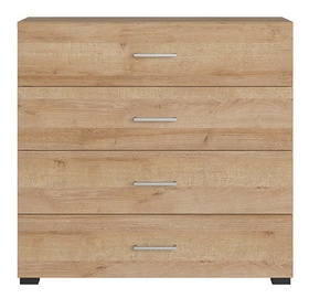 Black Red White Lurs Chest Of Drawers Riviera Oak