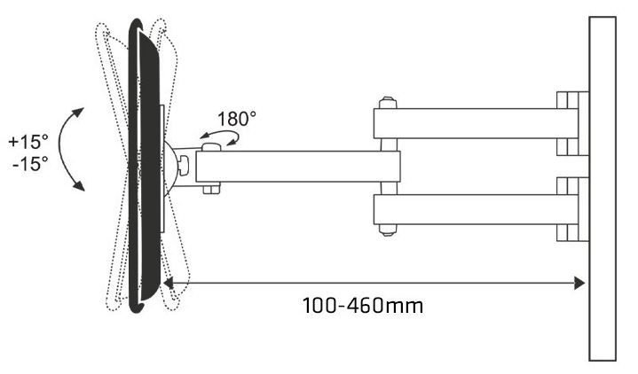 """Televizoriaus laikiklis Maclean Holdes For LCD TV / LED 22 - 50"""""""