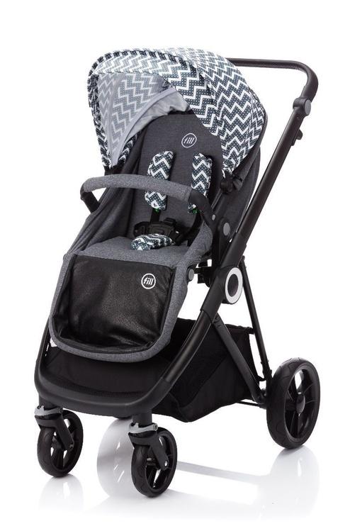 Universalus vežimėlis Fillikid Kudu 3in1 Wave Grey