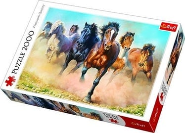 Dėlionė Trefl Galloping Herd Of Horses 27098, 2000 dalių