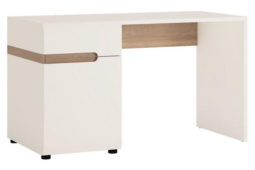 Meble Wojcik Linate 80 Desk White/Truffle Oak