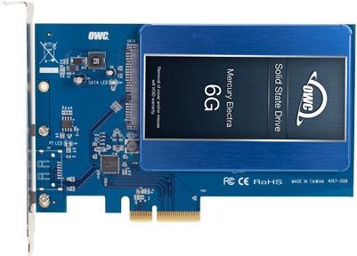 "OWC Accelsior S PCI-e to SSD 2.5"""