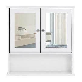 Songmics Mirror Cabinet White 56x13x58cm
