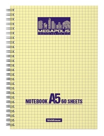 ErichKrause Wirebound Notebook Megapolis Yellow Concept 80 Sheets A5