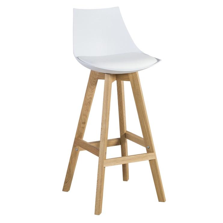 Bāra krēsls Home4you Sonja White/Oak, 1 gab.