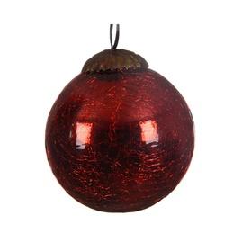 Ziemassvētku eglītes rotaļlieta 190037 Red, 80 mm, 1 gab.