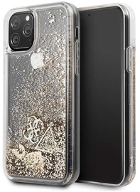 Guess Glitter Hearts Back Case For Apple iPhone 11 Pro Gold