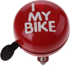 Cycletech I Love My Bike Bell Red