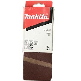 Slīpēšanas lente Makita P-37116, K80, 457x76 mm, 5 gab.