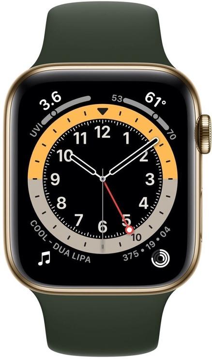 Умные часы Apple Watch Series 6 GPS LTE 44mm Stainless Steel, золотой