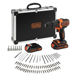 Black & Decker BDCHD18BAFC Cordless Hammer Drill with Accessories