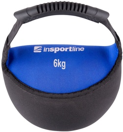 inSPORTline Neoprene Dumbbell Bell-Bag Black/Blue 6kg