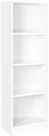 Songmics Bookcase White 121.5x40x24cm