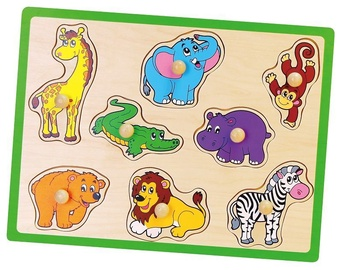 Viga Wooden Flat Puzzles Wild Animals 50019