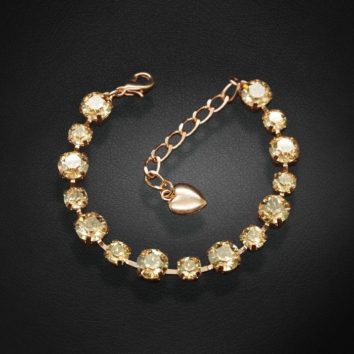 Diamond Sky Bracelet Classic IV Golden Shadow With Swarovski Crystals