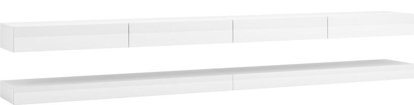 TV galds Vivaldi Meble Fly Double, balta, 2800x340x450 mm