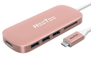 HooToo USB-C USB 3.0 HDMI SD Hub Rose Gold
