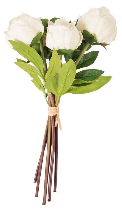 Искусственный цветок Home4you In Garden Peony Bunch Artificial Flower H30cm White