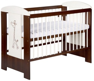 Klups Bed Safari Giraffe Cream/Walnut