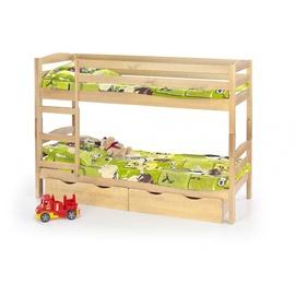Vaikiška dviaukštė lova Sam, pušies spalvos, 80 x 190 cm