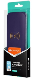Canyon Power Bank with Wireless Charger 8000mAh Purple