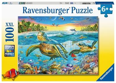 Ravensburger XXL Puzzle Swim With Sea Turtles 100pcs 129423