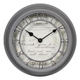 Atmosphera Wall Clock Romance 137316 D21.5cm Grey