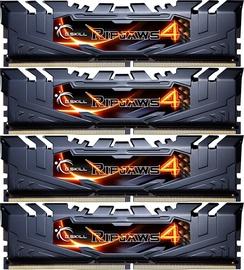 G.SKILL RipJaws 4 Grey 16GB 2400MHz CL15 DDR4 KIT OF 4 F4-2400C15Q-16GRB