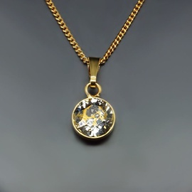 Diamond Sky Pendant Classic Gold Patina With Swarovski Crystals