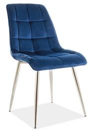 Ēdamistabas krēsls Signal Meble Chic Velvet, zila