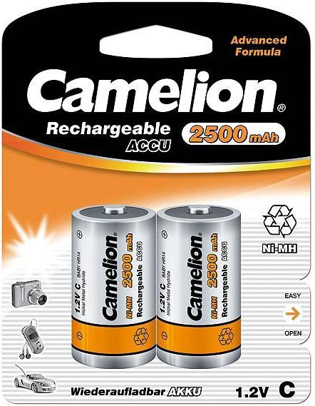 Camelion Rechargeable Batteries Ni-MH 2x C (R14) 2500mAh
