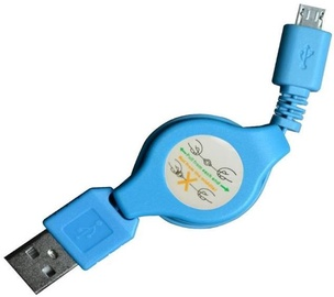 Vakoss Cable USB to USB-micro Blue 0.7m