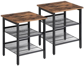 Songmics End Tables Black/Brown 2pcs 40x40x50cm