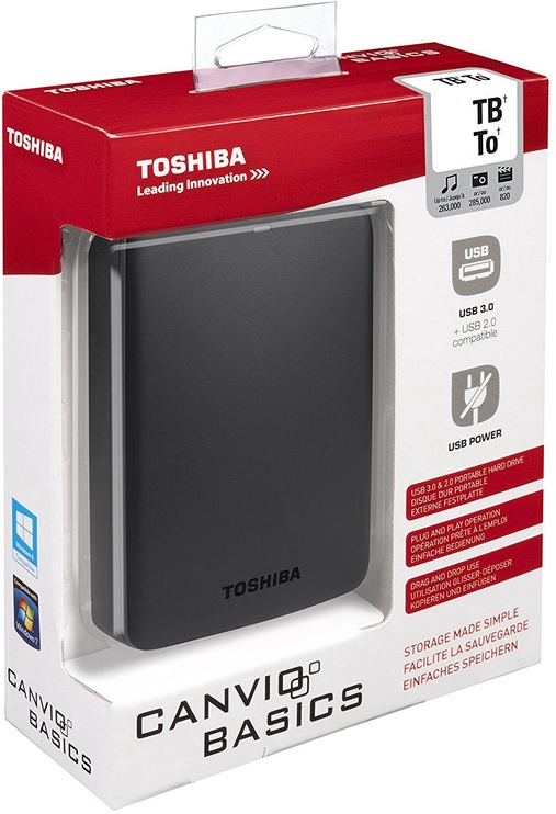 "Toshiba Canvio Basics 500GB 2.5"" USB 3.0 Black"