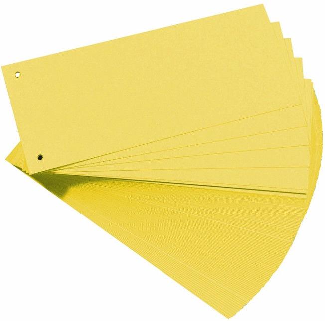 Herlitz Divider Strips 10843613 Yellow 100pcs