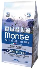 Monge Grain Free Mini Adult with Anchovies Potatoes and Peas 2.5kg