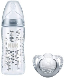 Nuk Silver Limited Edition Set First Choice Plus Baby Bottle With Soother 10216167