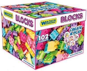 Wader Blocks Create&Play Pink In Carton Box 102pcs 41293