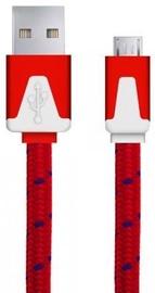 Esperanza Braided Cable USB to USB-micro Red 1m