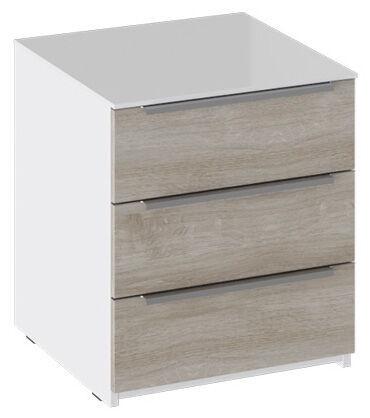 Naktsgaldiņš MN Sindi, balta/pelēka, 45x44.6x50.3 cm