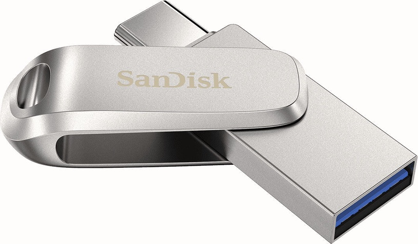 USB atmintinė SanDisk Ultra Dual Drive Luxe 2-in-1, USB 3.1, 128 GB