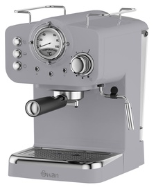 Kohvimasin Swan Retro Pump Espresso Grey