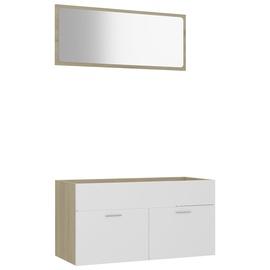 Комплект мебели для ванной VLX 804805, белый/дубовый, 38.5 x 90 см x 46 см