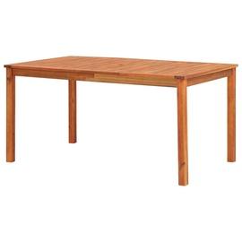 Садовый стол VLX Solid Acacia Wood 45962, коричневый, 1500 x 900 x 740 см