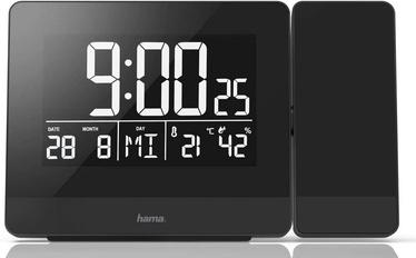 Hama Plus Charge Projection Alarm Clock Black